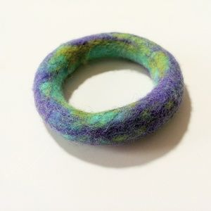 Jewelry - Purple Felt Bracelet